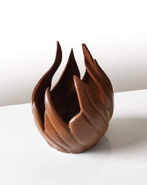 Coldfire Artist: Hemrod Duran Medium: terracotta ceramic artwork Dumaguete