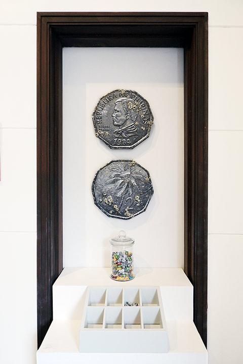 Artist: Hersley Casero Medium: mixed media on canvas Year: 2021 ATOA Dumaguete Bisaya exhibition Filipino coin 2 peso