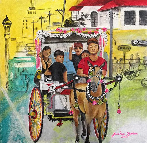 OBT (One Big Tuyok!) Artist: Jessica Lupisan Medium: acrylic on canvas Dumaguete artwork local exhibit