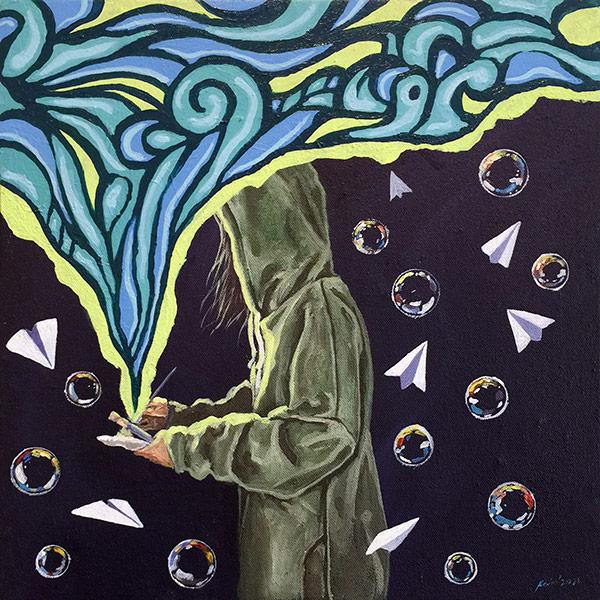 BAGNUSANAY Artist: Kevin Medium: acrylic on canvas Dumaguete artwork exhibition