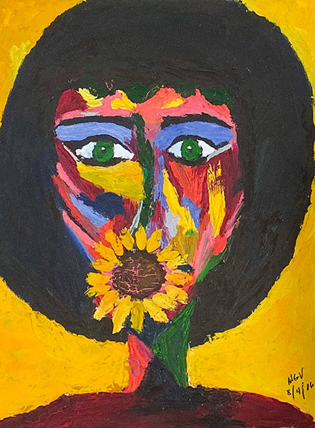 Mariana Varela Dumaguete city artist traditional Ari sunflower sister