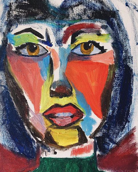 mama Medium: acrylic on canvas  Year: 2015 Mariana Varela Dumaguete city artist traditional Ari