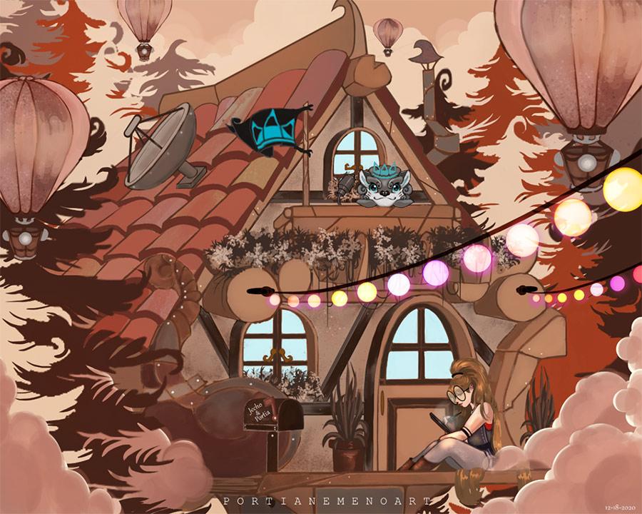 The MagThe Magical Cabin Houseical Cabin House Portia Nemeño digital artworks digital artist Dumaguete city