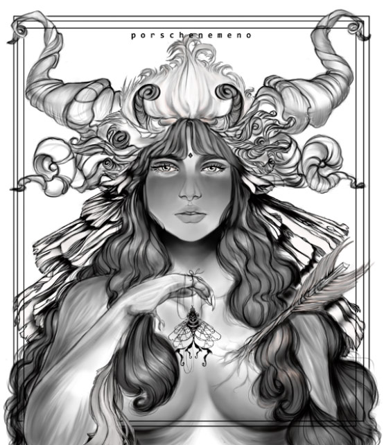 Andromeda of the Woods Portia Nemeño digital artworks Dumaguete city artist