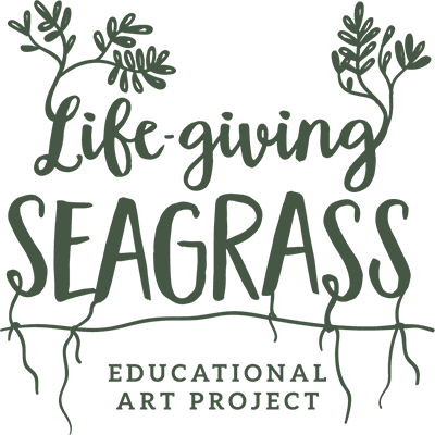 LOGO Life-Giving seagrass protection Philippines Negros Oriental Dumaguete city artist Cil Flores Angelo Delos Santos Educational project exhibition exhibit support local Filipino art